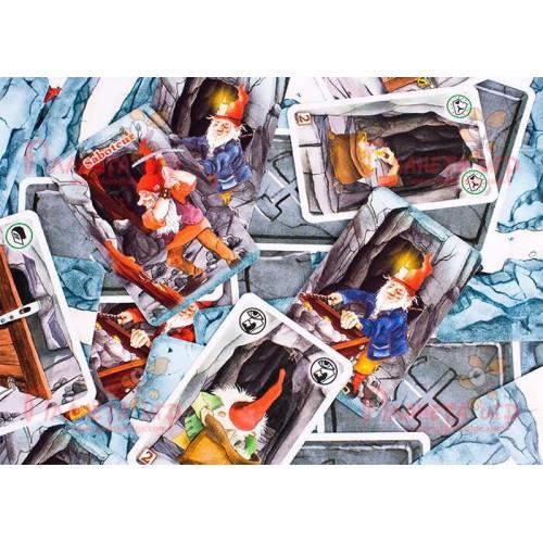 Настольная карточная игра «Гномы-вредители. Делюкс» (Саботёр, Saboteur) (с дополнением)