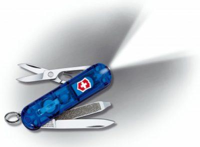Складной нож Victorinox многофункциональный с фонариком