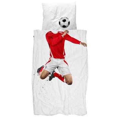 Односпальный комплект постельного белья Snurk «Soccer champ red»