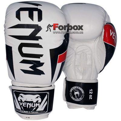Перчатки боксерские Venum кожаные Elite Neo