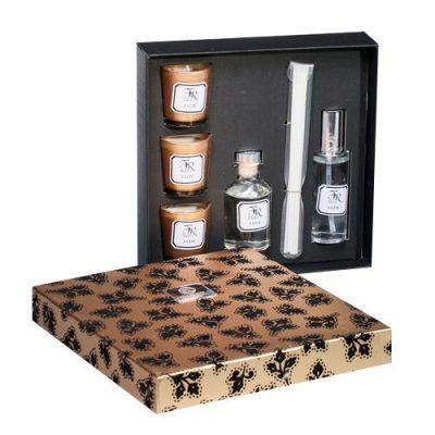 Подарочный набор аромадиффузоров и свечей Serenity «Jade Gold» премиум