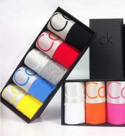 Подарочный набор нижнего белья Calvin Klein в черной фирменной коробке