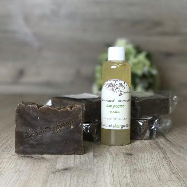 Подарочный набор Nataliorganic: шампунь «Леди» с шоколадным ароматом 5 шт. + шампунь «Шелковый» в подарок