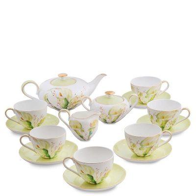 Чайный сервиз на шесть персон Pavone «Calla Charme»
