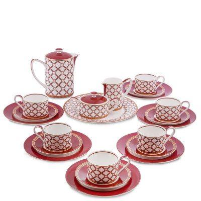 Чайный сервиз Pavone «Eleganza» на шесть персон