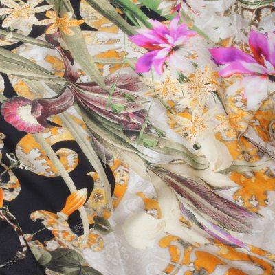Шелковый шарф Twin-Set Simona Barbieri с цветочным принтом