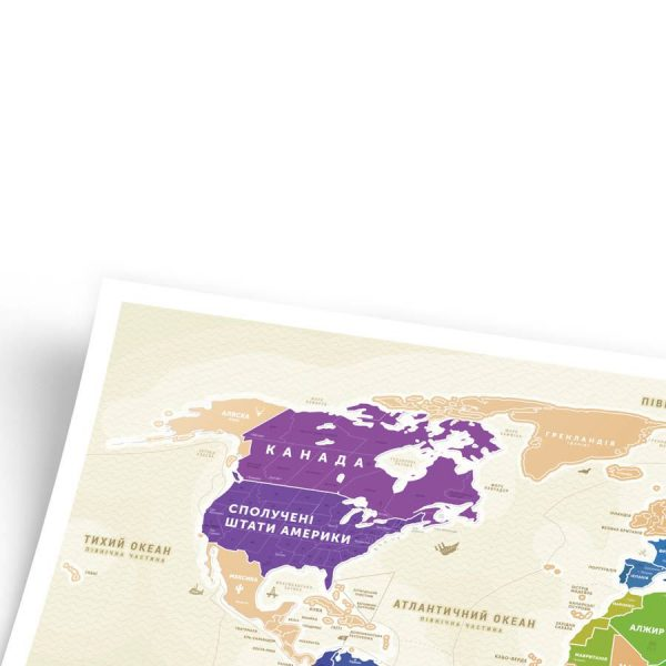 Скретч-карта мира Travel Map gold