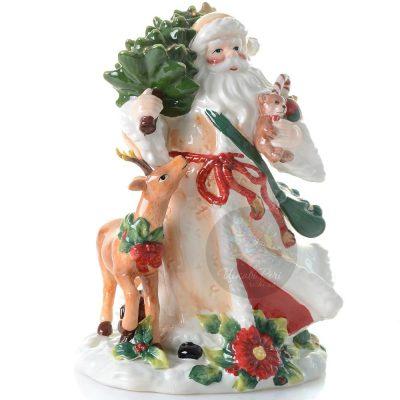 Статуэтка Pavone «Дед Мороз с елкой»
