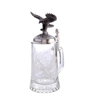 Стеклянный бокал для пива «Любителям пива»