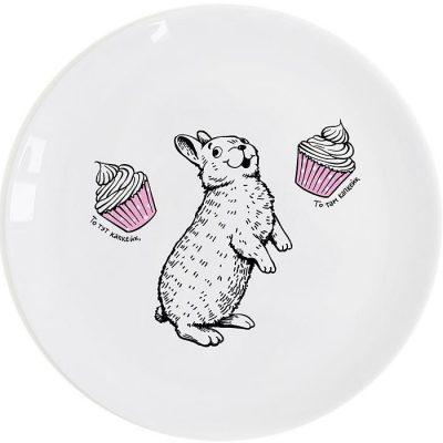 Тарелка Orner Store «Кролик-сладкоежка»