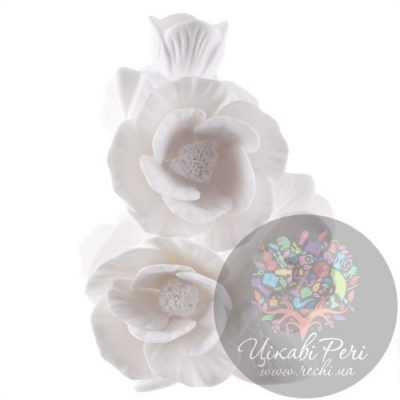 Ваза «Цветы Пиона» Enesco из бисквитного фарфора