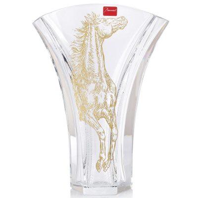 Хрустальная ваза с позолотой Baccarat «Apollo Ginkgo»
