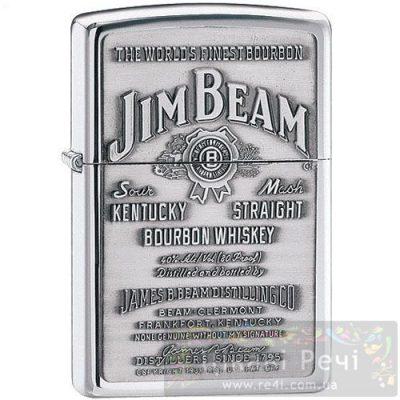 Зажигалка Zippo «Jim Beam Pewter Emblem»