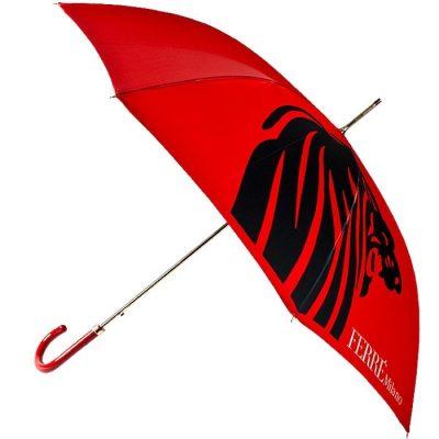 Зонт-трость Ferre с принтом в форме силуэта львиной головы