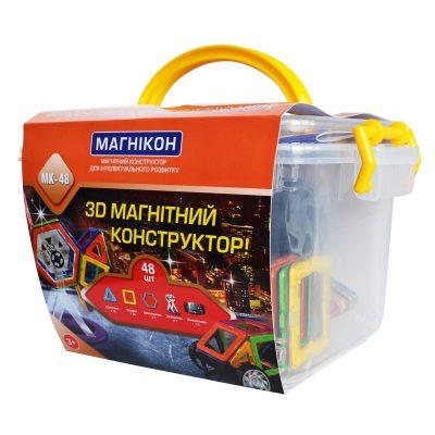 Магнитный 3D-конструктор «Магникон» 48 деталей