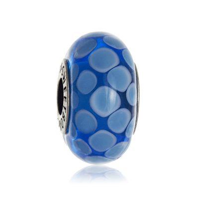 Бусина «Голубые облака» в серебре