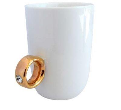 Чашка «Золотое кольцо» (белая)