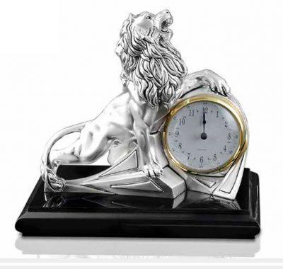 Часы настольные «Leone con orologio»