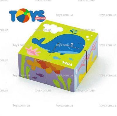 Пазл-кубики Viga Toys «Подводный мир»