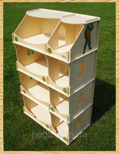 Домик-шкаф «Черепашки-Ниндзя» для мальчиков