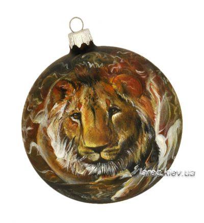 Елочный шар знак зодиака «Лев»
