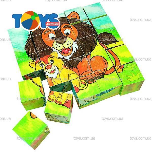 Деревянные кубики «Животные»