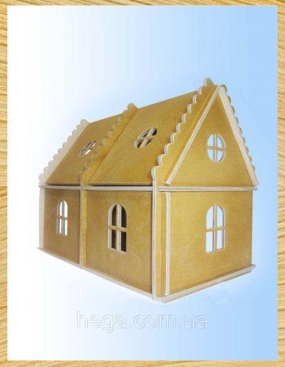 Кукольный домик Hega на 2этажа (тонированный)