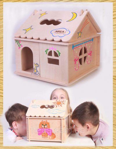 Кукольный домик с росписью Hega