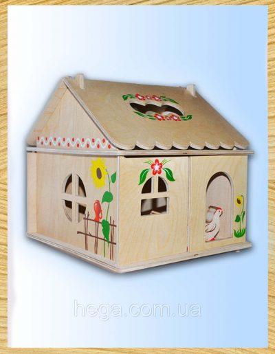 Кукольный домик с росписью «Петушок»