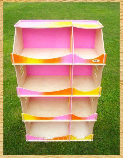 Кукольный домик-шкаф Hega радужный с росписью