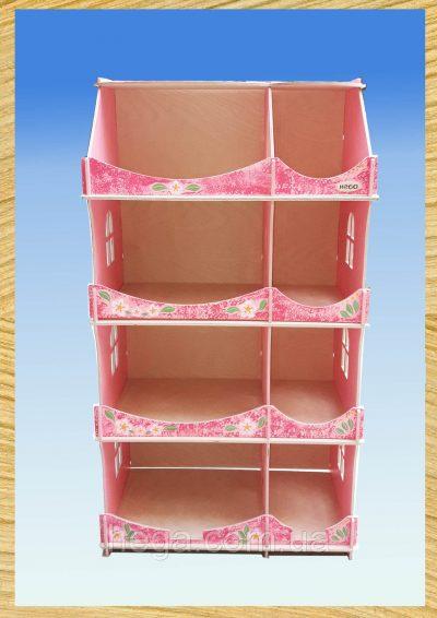 Кукольный домик-шкаф Hega с росписью (мраморный)