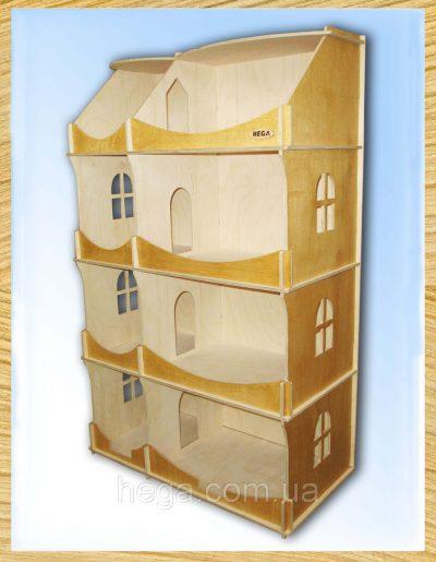 Кукольный домик-шкаф тонированный Hega