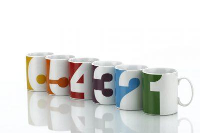 Набор чашек «От одного до шести»