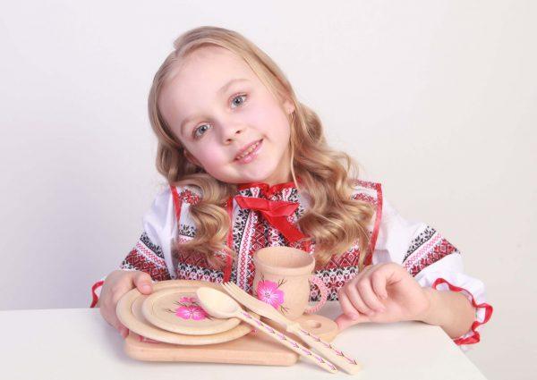Набор детской посуды «Мамина помощница!» ТМ «HEGA»