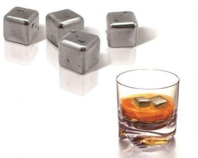 Набор охлаждающих кубиков для виски «Стальной лед» Vin Bouquet (4 шт.)