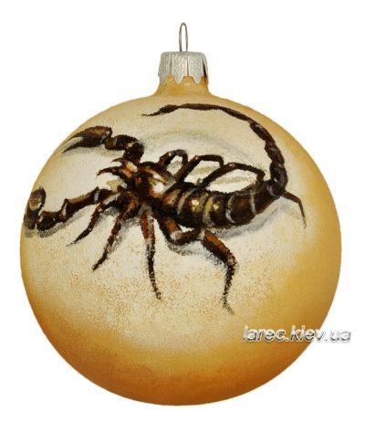 Подарочный шар на ёлку «Знак зодиака: Скорпион» ручная роспись