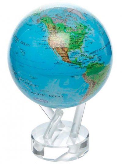 Самовращающийся глобус «Физическая карта» MOVA
