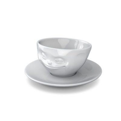 Чашка с блюдцем для эспрессо «Grin» 58Products
