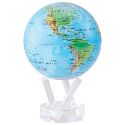Глобус самовращающийся «Физическая карта мира»