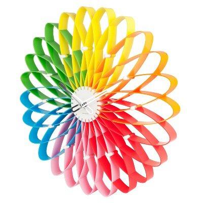 Часы настенные «Spirograph», мультицветные