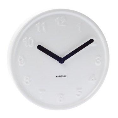 Часы настенные «Ceramic style» Present Time (белые)