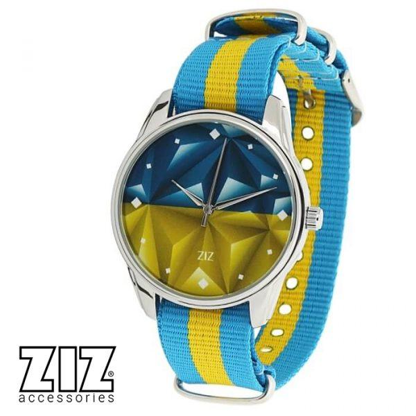 Часы наручные «Флаг треугольники» нейлон