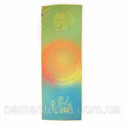 Коврик - полотенце для йоги «GRIP ART»