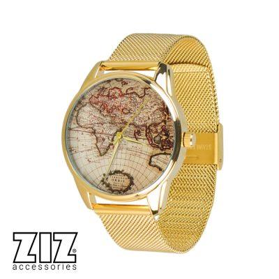 Часы наручные «Карта», браслет из нержавеющей стали
