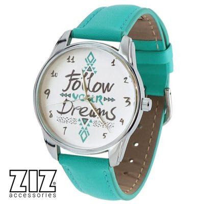 Наручные часы ZIZ «Follow your dreams» бирюзовый