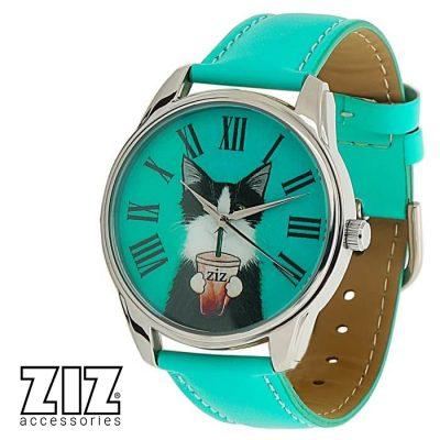 Оригинальные наручные часы «Кот со стаканом» ZIZ