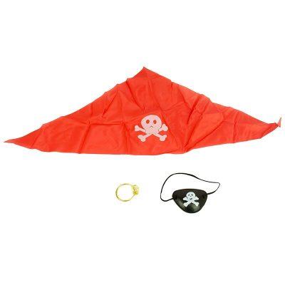 Повязка на глаз пирата с серьгой и банданой