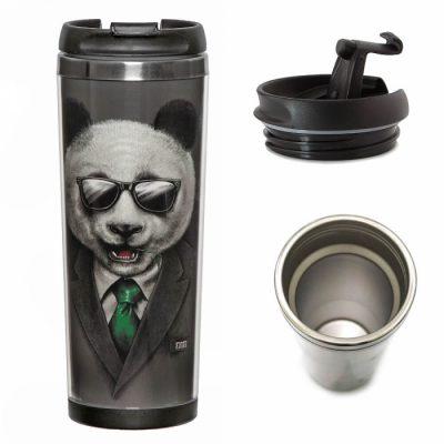 Термокружка ZIZ «Панда в пиджаке»