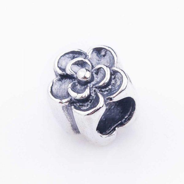 Серебряный шарм «Цветок»