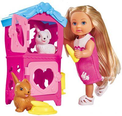 Кукольный набор Simba Evi «Домик кроликов с аксессуарами»